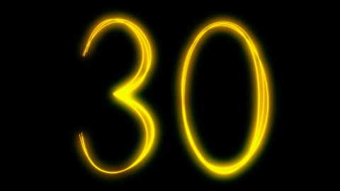 light painting countdown - stock footage
