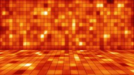 beaming orange squares musical loopable background - motion graphic