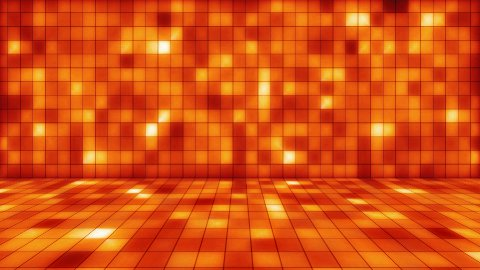 beaming orange squares musical loopable background - stock footage