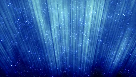 loopable blue background flying particles - stock footage