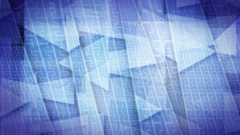 loopable blue background flying arrow signs data transfer - stock footage