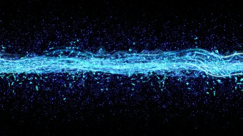 loopable background blue light beam - stock footage