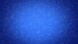 seamless loop snowfall on blue background - motion graphic