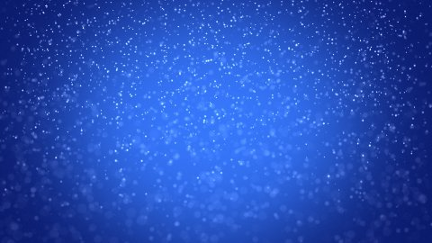 seamless loop snowfall on blue background - stock footage