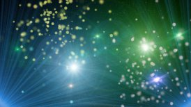 loopable background projector lights lens flares flying particles - motion graphic