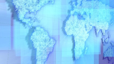 loopable background moving map of the world - stock footage