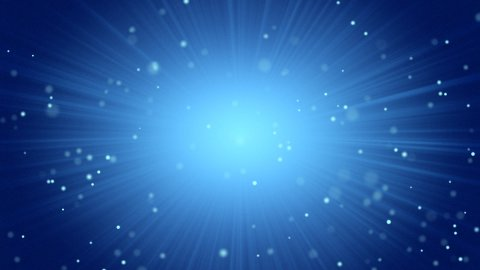 blue abstract background light beams and particles - stock footage