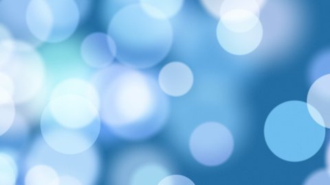 seamless loop blue blurred circles - stock footage