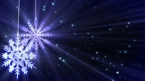 christmas loop background two snowflakes and glitter snowfall - stock footage