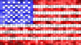 usa flag of shining elements loopable - motion graphic