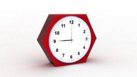 timelapse clock on white 3d - motion graphic