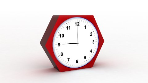 timelapse clock on white 3d - stock footage