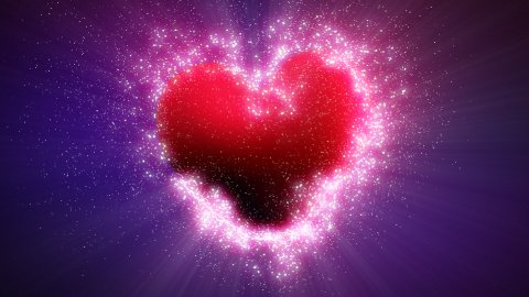 explosive heart shape with luma matte - stock footage