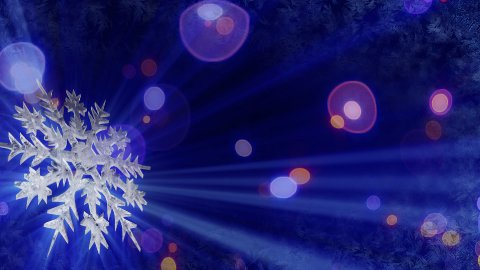 rotating snowflake and lights seamless loop background - stock footage