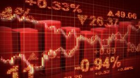 stock market red loopable business background - motion graphic