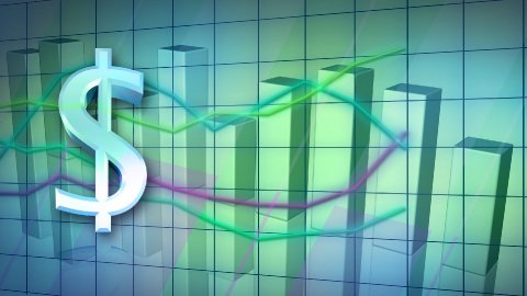 looping business statistic background - stock footage