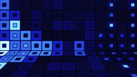 beaming blue squares disco loopable background - stock footage