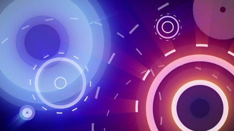red blue circles and dashed lines seamless loop background - stock footage
