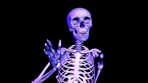 Skeleton Running Upper Body. Loop - stock footage