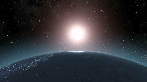 Earth (Highend) Sunrise Horizon Over MIddle America CGI HD - stock footage