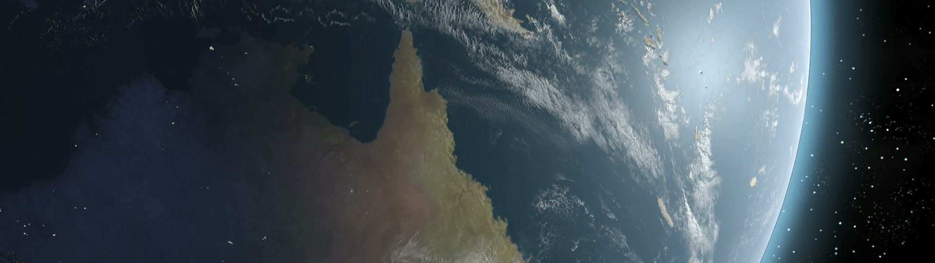 Earth Sunrise Over Australia CGI HD | Sunrise over Australia. Highend Earth. Animation.  All other continents available too. - ID:12304