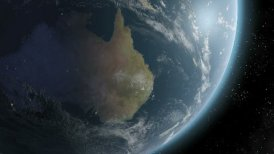 Earth Sunrise Over Australia CGI HD - motion graphic