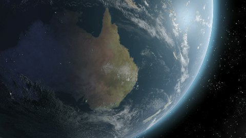 Earth Sunrise Over Australia CGI HD - stock footage