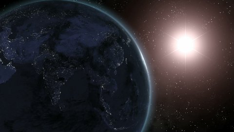 Earth Sunrise Over Asia CGI HD - stock footage