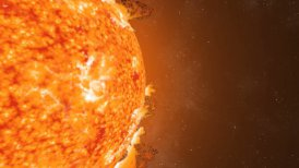 Sun Eruptions Oval Orbiting  Loop CGI HD