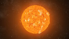 Sun Eruptions Flyby CGI HD - motion graphic