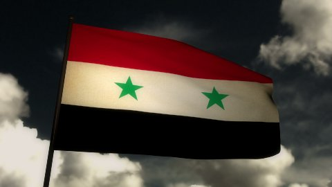 Flag Syria 02 - stock footage