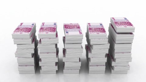 falling stacks of 500 euro currency - stock footage