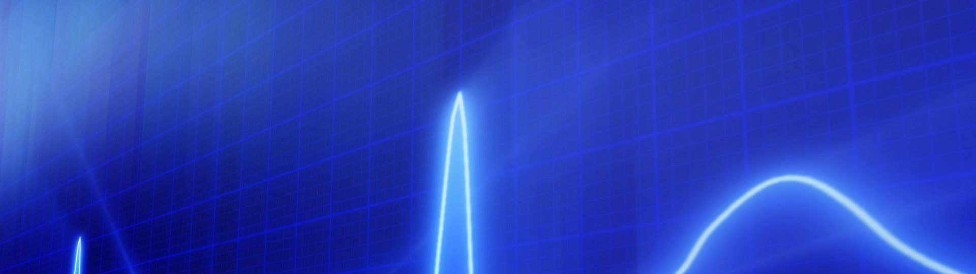 Seamless loop blue background EKG electrocardiogram pulse real waveform | computer generated loopable medical motion background. Progressive Scan - ID:12346