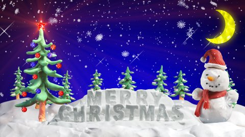 merry christmas clay greetings loopable scene - stock footage