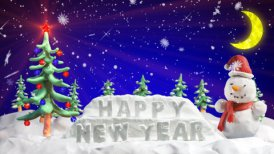 happy new year clay greetings loopable scene - editable clip, motion graphic, stock footage