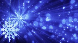 two snowflakes and lights loopable christmas background - motion graphic