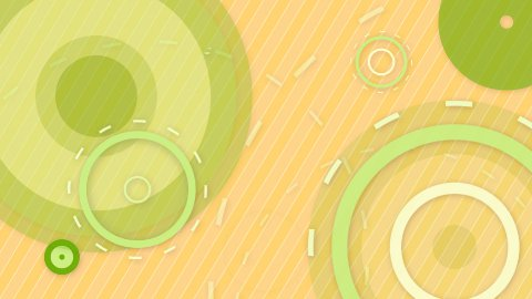 green orange circles and lines seamless loop background - stock footage