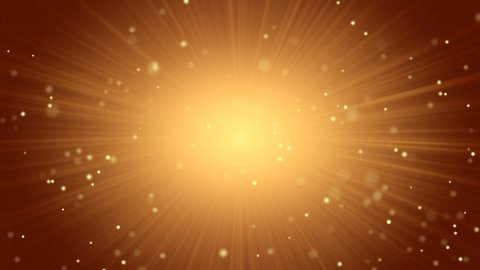 orange abstract background light beams and particles - stock footage