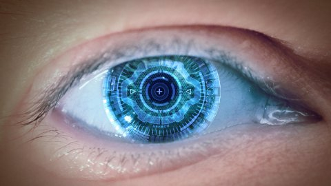 Eye of the cyborg 2 - stock footage