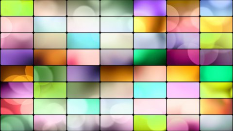 round lights in multicoloured rectangles loop background - stock footage