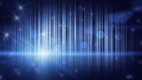 stars lights and vertical stripes blue loop background - stock footage