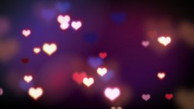 shining heart shapes loopable love background - editable clip, motion graphic, stock footage