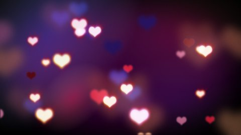 shining heart shapes loopable love background - stock footage