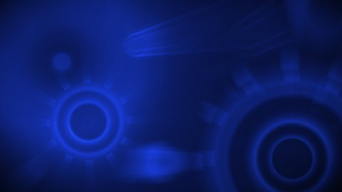 blue shiny circles seamless loop background - stock footage