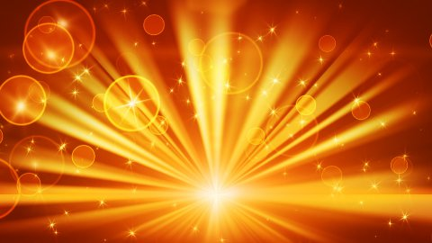 lights and shining stars gold loop background - stock footage