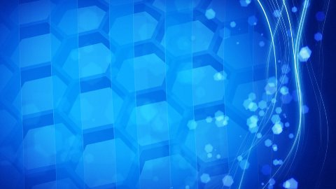 cells and hexagons looping blue background - stock footage