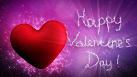 happy valentines day greetings loopable - motion graphic