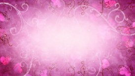 hearts and flourishes loop romantic background - motion graphic