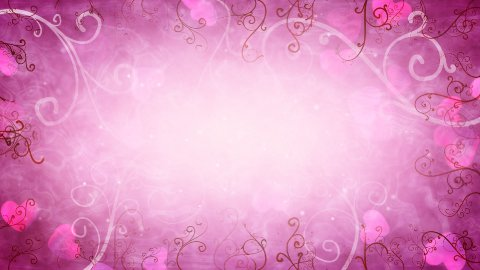 hearts and flourishes loop romantic background - stock footage