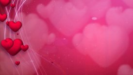lines and hearts red romantic loop background - motion graphic